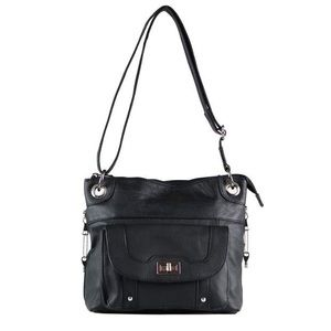 Roma Leather Concealed Carry Crossbody Locking